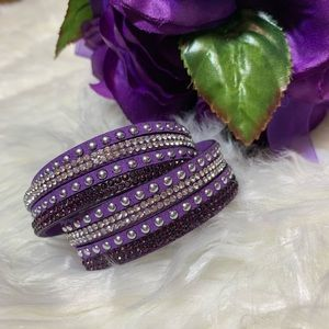 Jewelry - 2/$20 Purple Faux Leather Wrap Bracelet